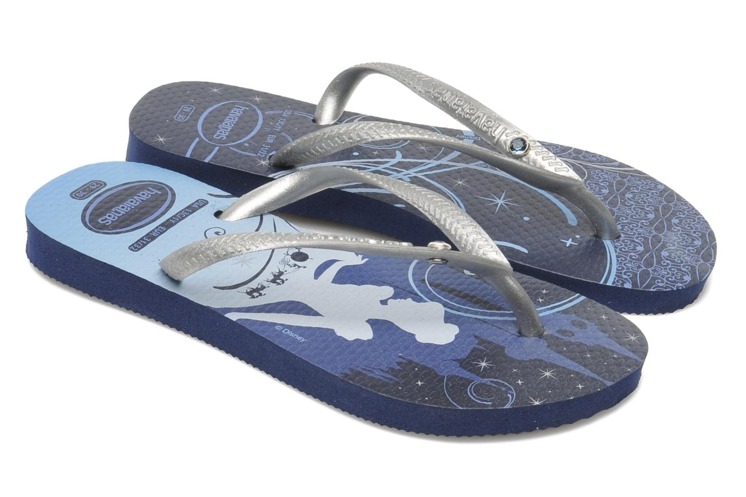 Tongs Havaianas Kids Slim Princess Bleu vue détail/paire