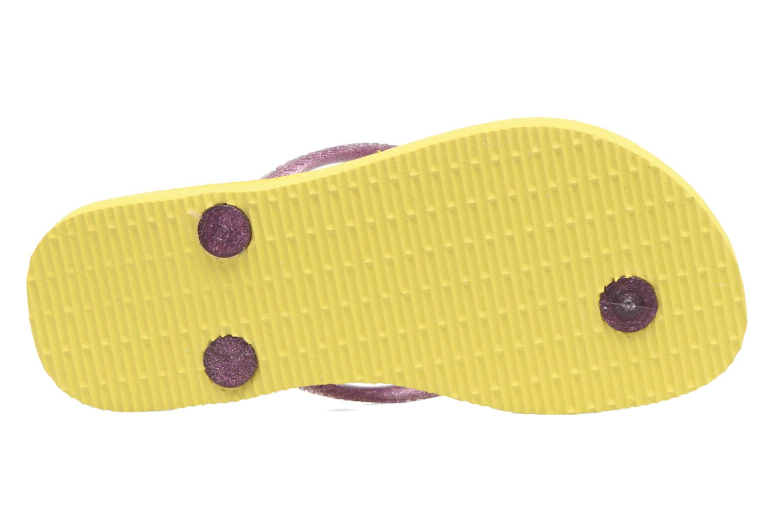 Tongs Havaianas Kids Slim Princess Jaune vue haut