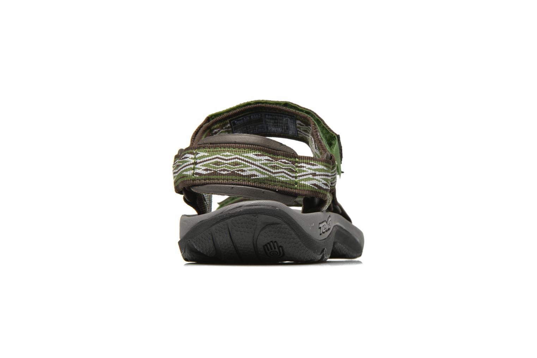 Chaussures de sport Teva Hurricane 3 M Vert vue droite