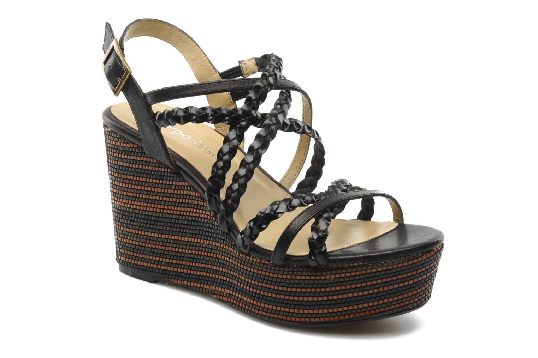 Sandales et nu-pieds Georgia Rose Sabrini Noir vue détail/paire