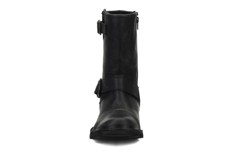 Bottines et boots Kickers Kickbike Noir vue portées chaussures