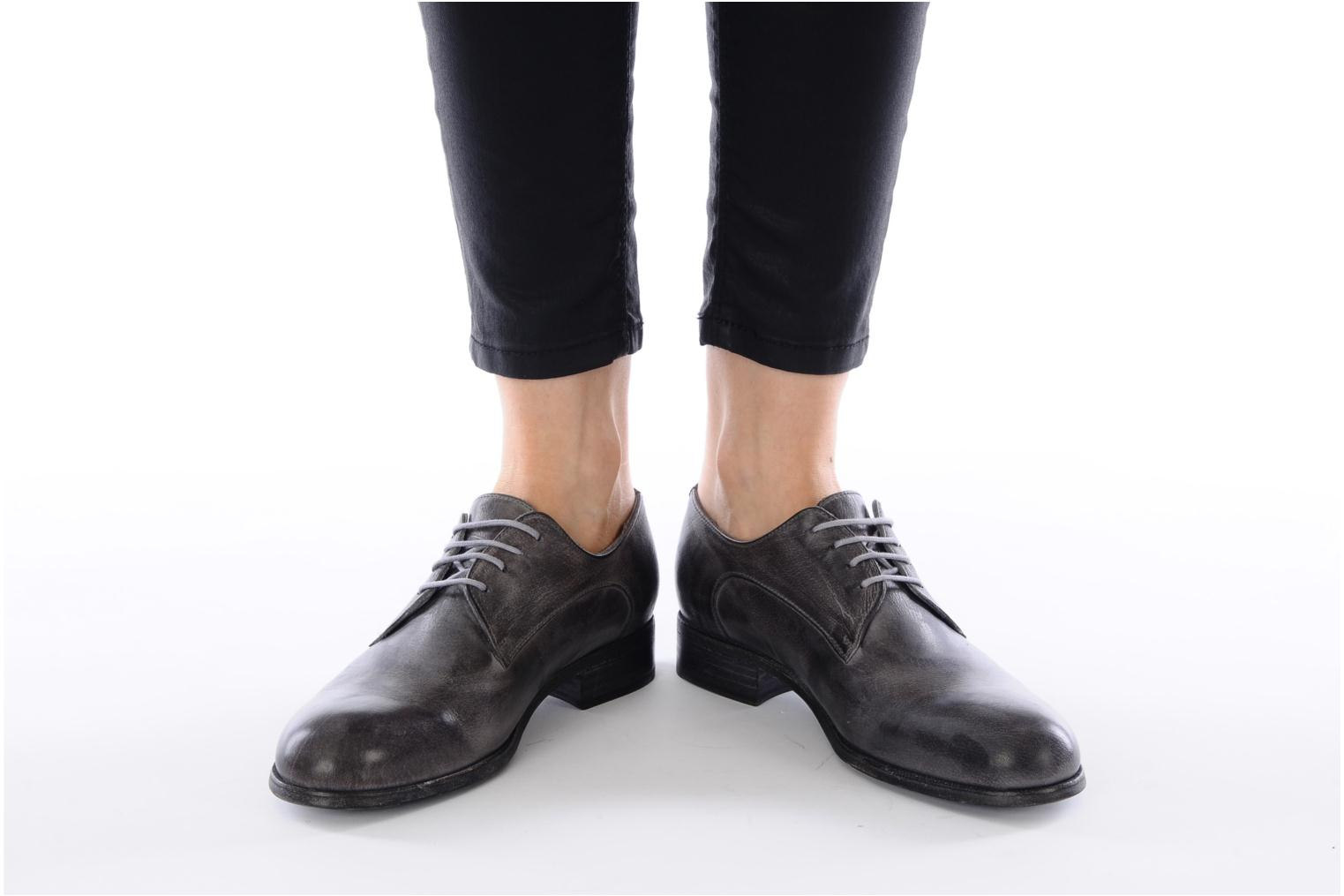 Lace-up shoes Free Lance Azev 4 derby Grey view from underneath / model view