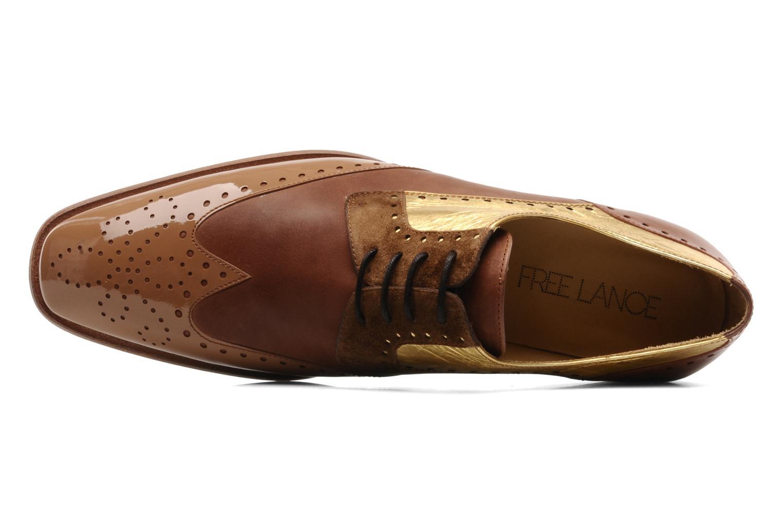 Chaussures à lacets Free Lance Totsy 4 derby perfo Marron vue gauche