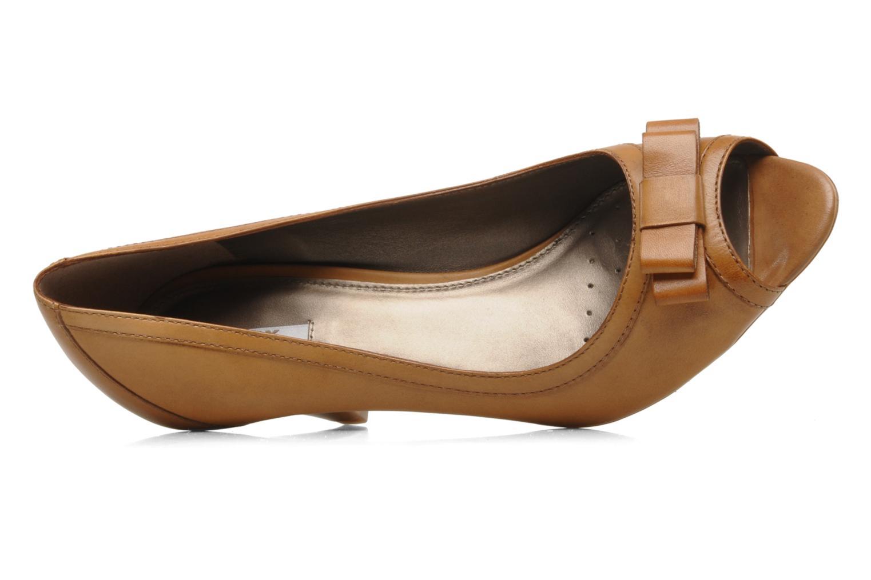 Zapatos de tacón Geox D Francia Z Marrón vista lateral izquierda