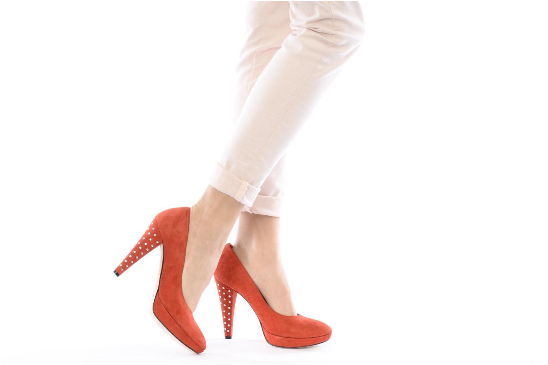 Zapatos de tacón Geox D Mavis P Rojo vista de abajo