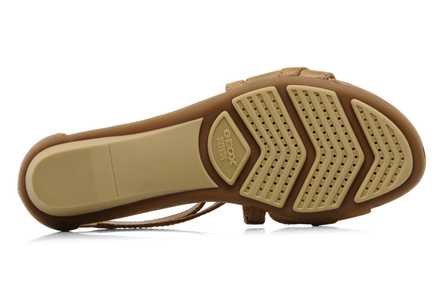 Sandals Geox D felisa d Brown view from above