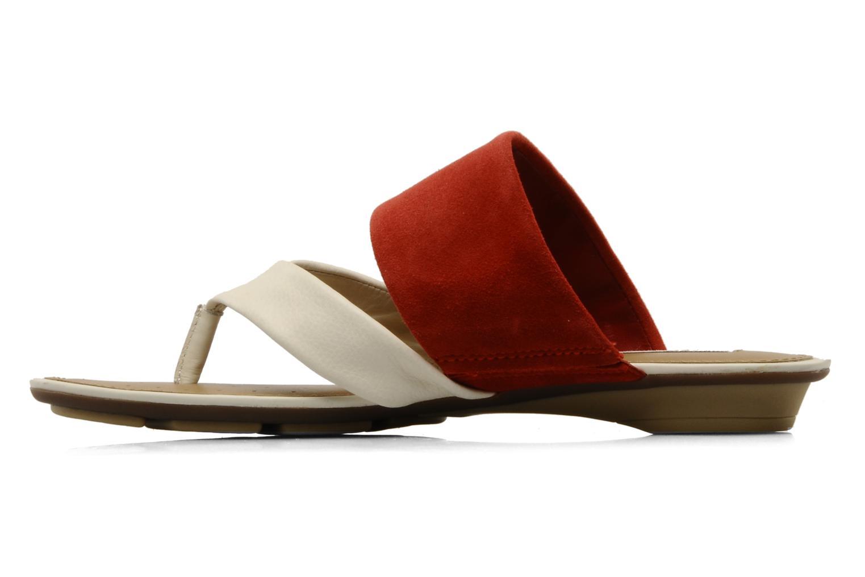 Flip flops Geox D felisa r Red front view