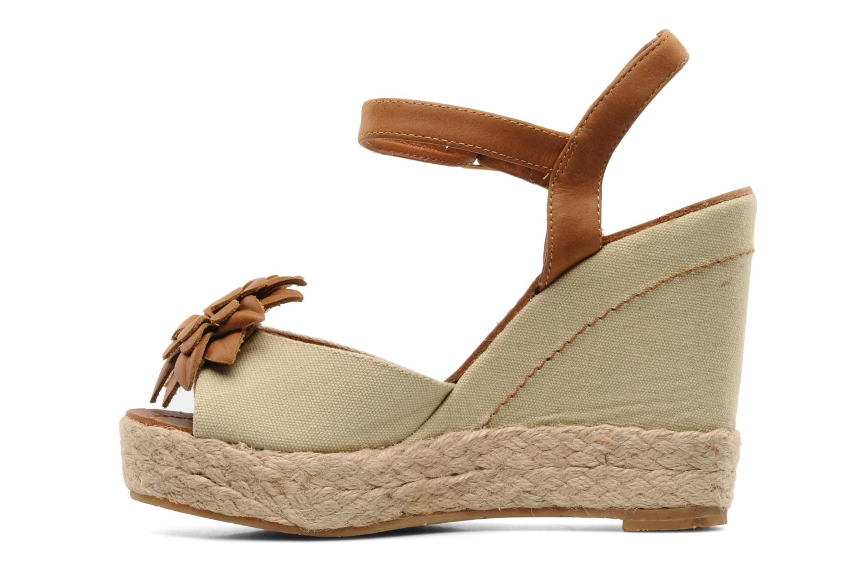 Sandales et nu-pieds Bertie Giotto Beige vue face