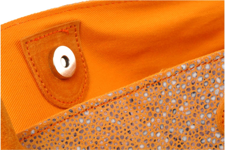 Cabas Alma Bicolore croute orange/galuchat orange