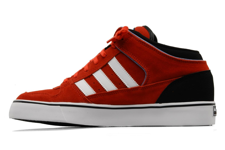 Baskets Adidas Originals Culver Vulc Mid Rouge vue face