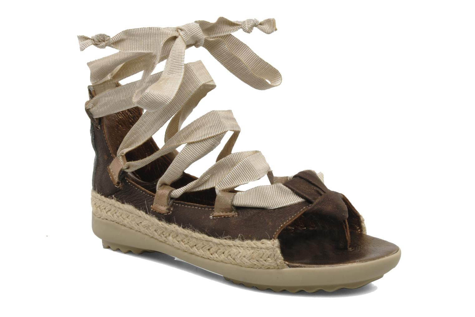 Sandals Pataugas Midnight e Brown detailed view/ Pair view