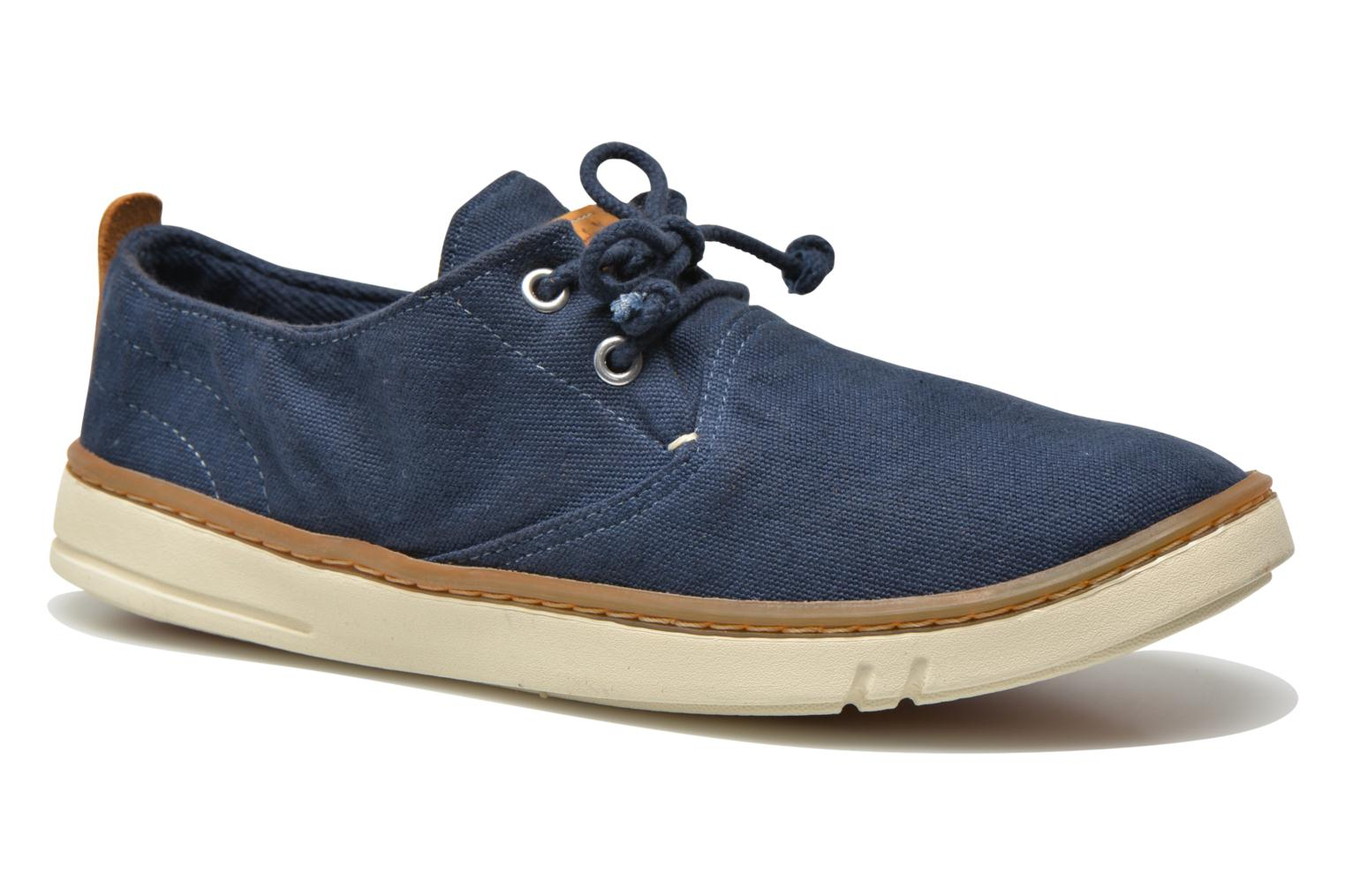 Baskets Timberland Earthkeepers Hookset Handcrafted Fabric Oxford Bleu vue détail/paire