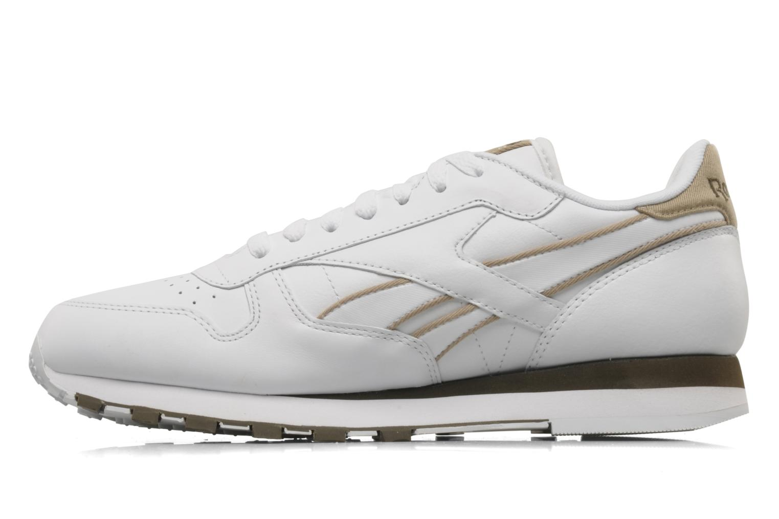 Trainers Reebok CL Leither Matl White front view