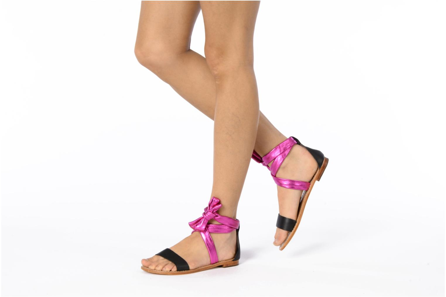 Sandals Mellow Yellow Jaipur Pink view from underneath / model view