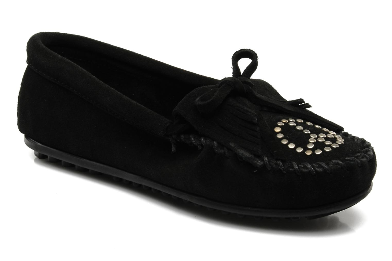 Loafers Minnetonka PEACE Black detailed view/ Pair view