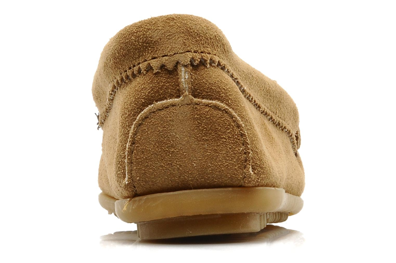 Loafers Minnetonka THUNDERBIRD 2 Beige view from the right