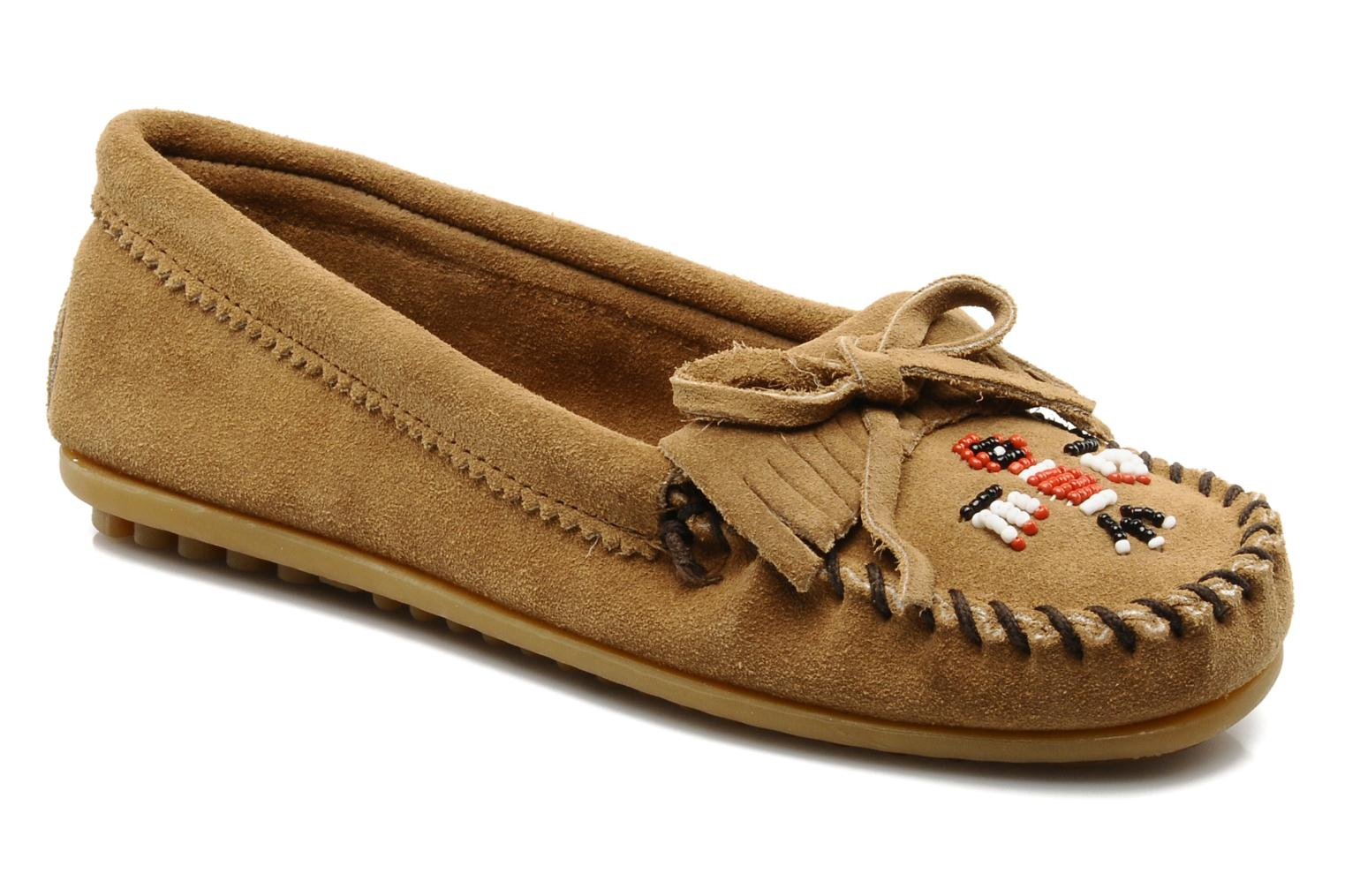 Loafers Minnetonka THUNDERBIRD 2 Beige detailed view/ Pair view