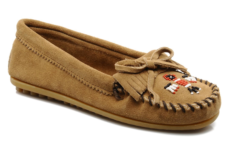 Loafers Minnetonka THUNDERBIRD 2 Beige detaljeret billede af skoene
