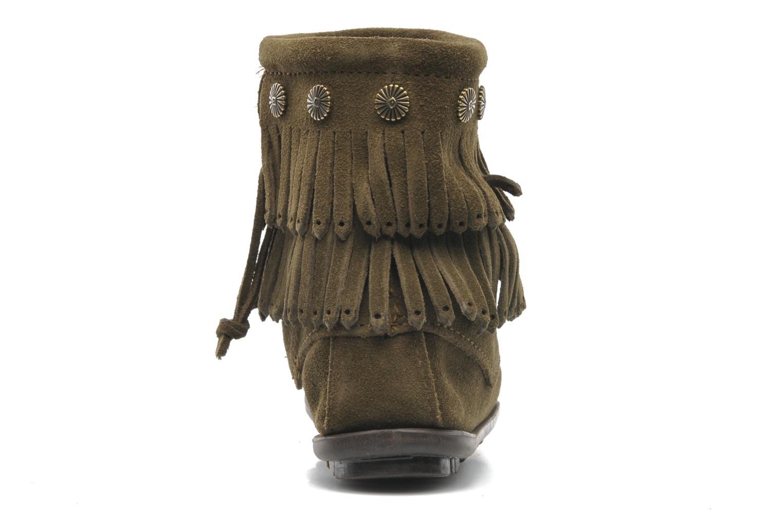 Bottines et boots Minnetonka DOUBLE FRINGE BT Vert vue droite