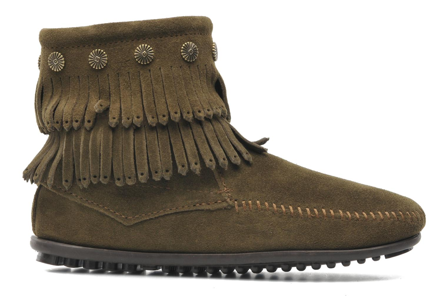 Ankle boots Minnetonka DOUBLE FRINGE BT Green back view
