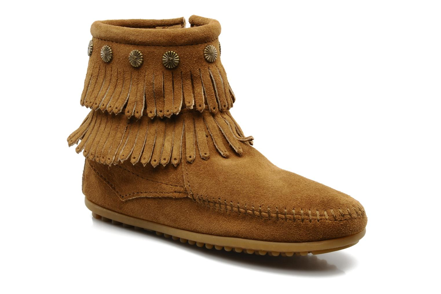 Ankle boots Minnetonka DOUBLE FRINGE BT Brown detailed view/ Pair view