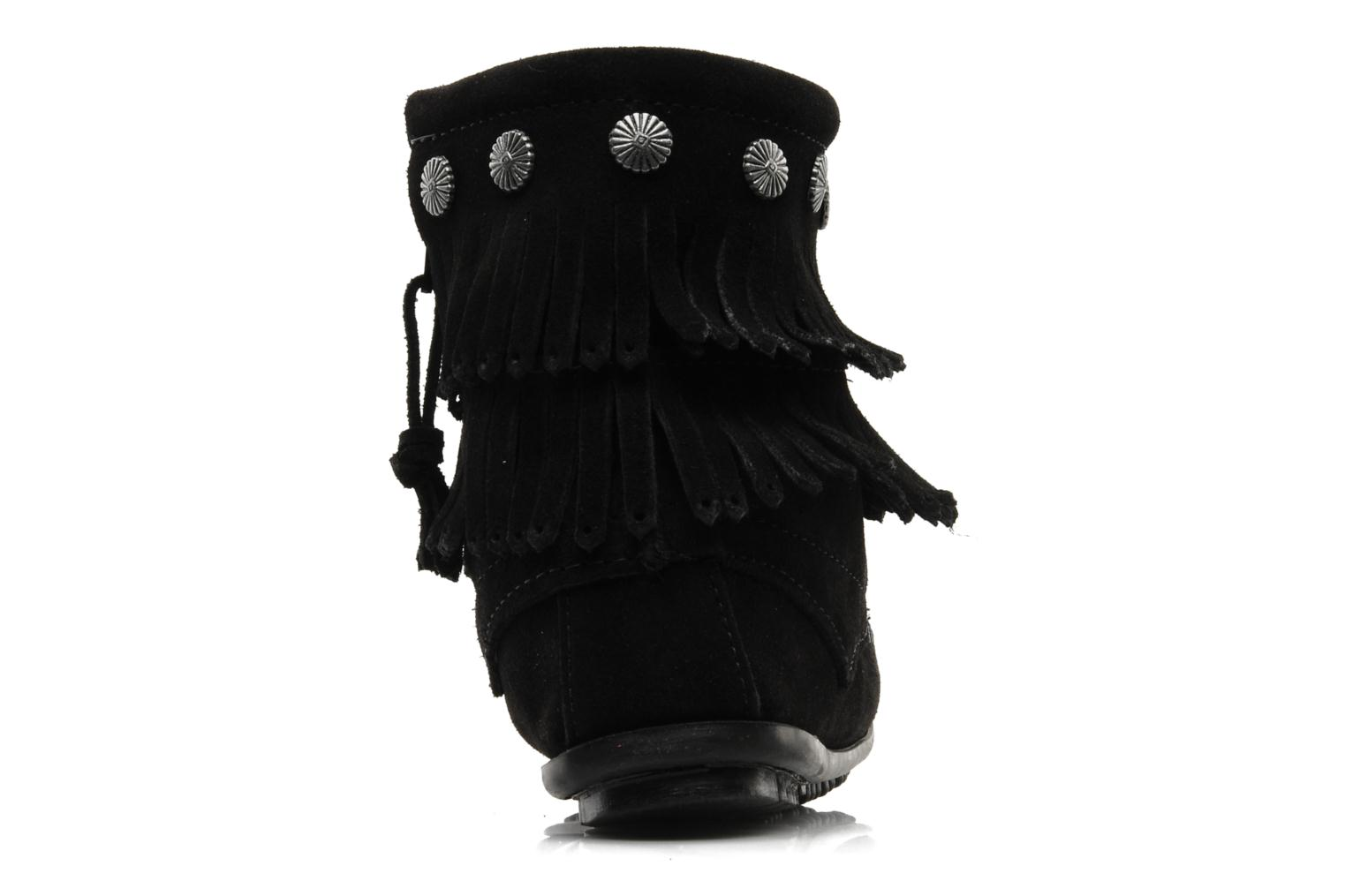 Ankle boots Minnetonka DOUBLE FRINGE BT Black view from the right