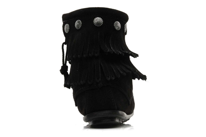Boots en enkellaarsjes Minnetonka DOUBLE FRINGE BT Zwart rechts