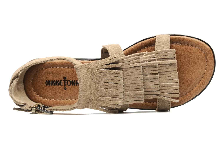 Sandaler Minnetonka Maui Beige se fra venstre