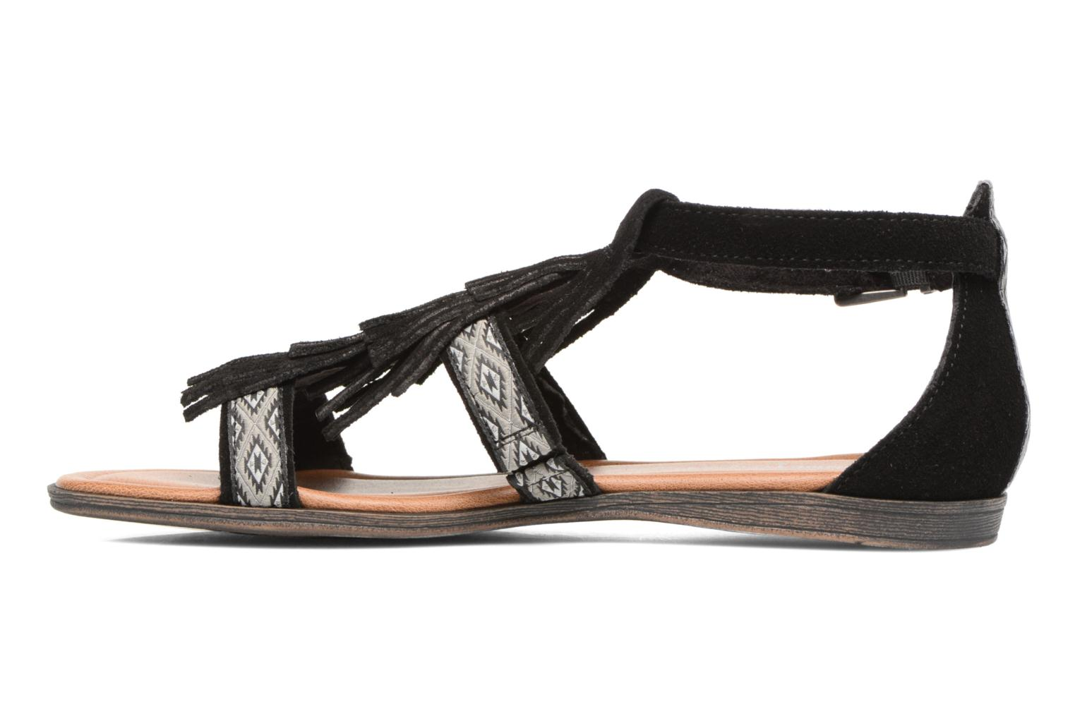 Sandals Minnetonka Maui Black front view