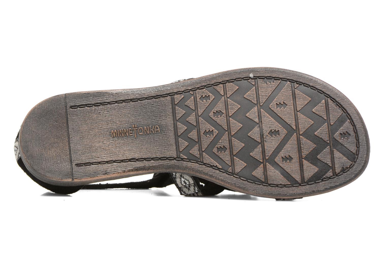 Sandales et nu-pieds Minnetonka Maui Noir vue haut