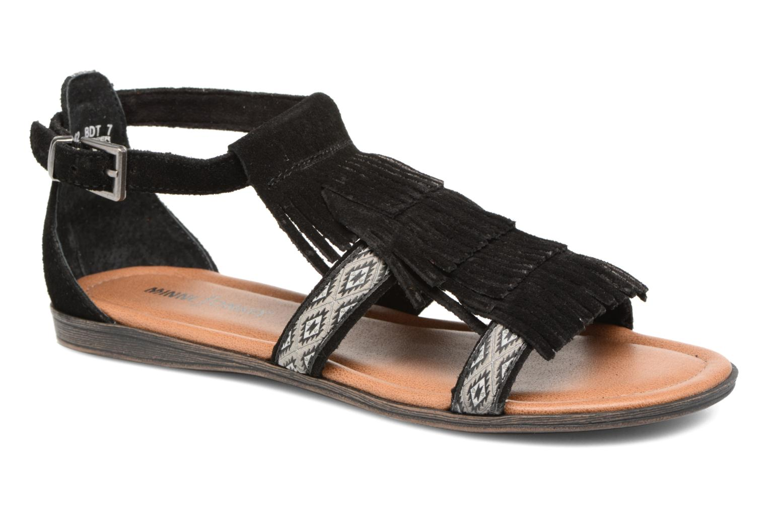 Sandals Minnetonka Maui Black detailed view/ Pair view