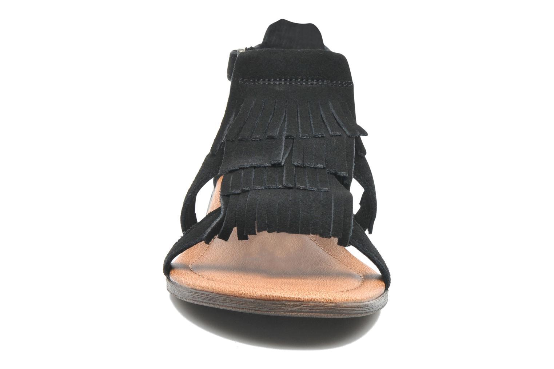 Sandalen Minnetonka Maui schwarz schuhe getragen