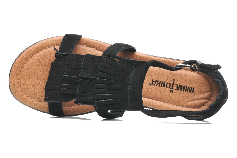 Sandalen Minnetonka Maui Zwart links