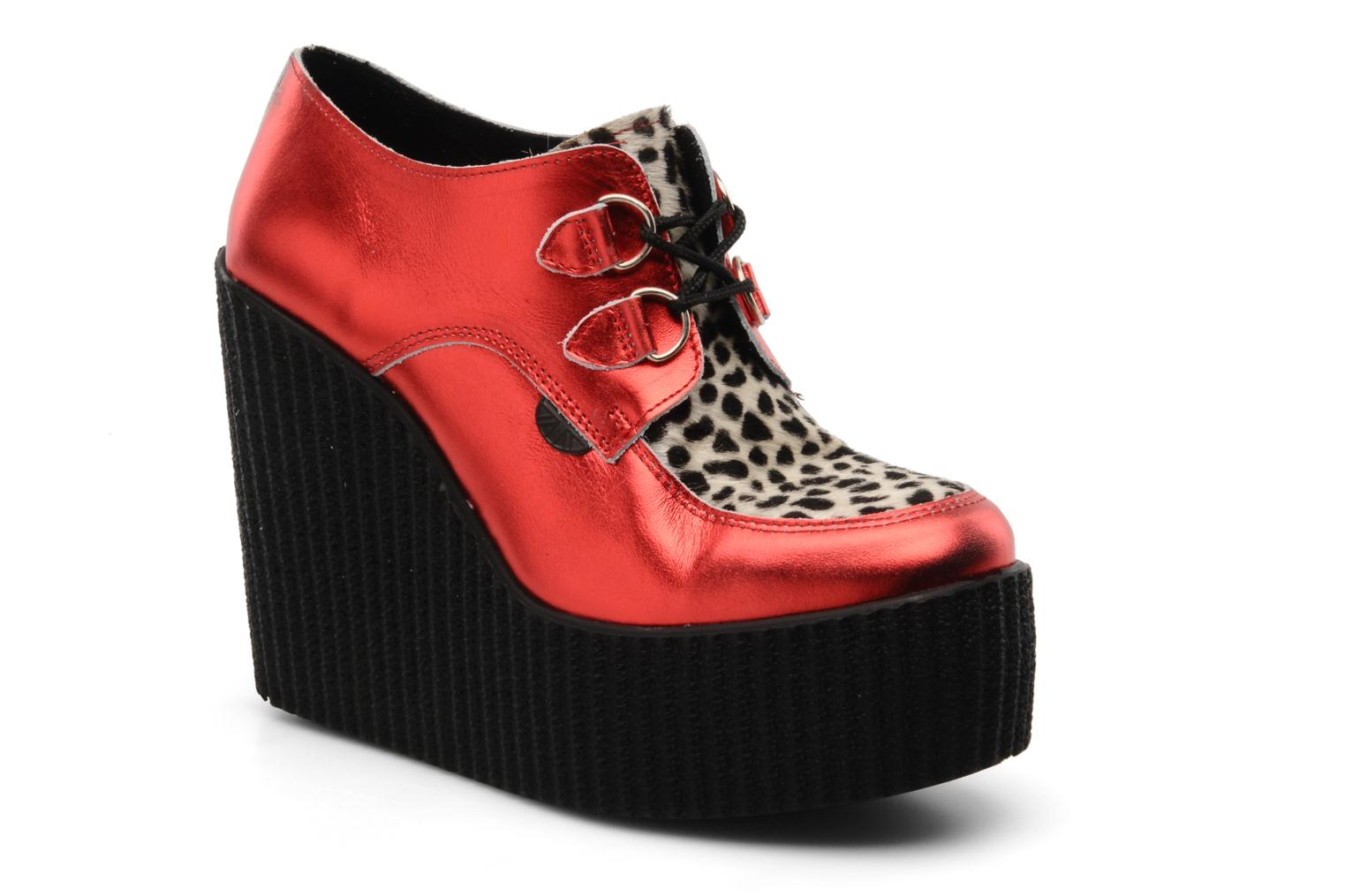 Lace-up shoes Underground Flashies Red detailed view/ Pair view
