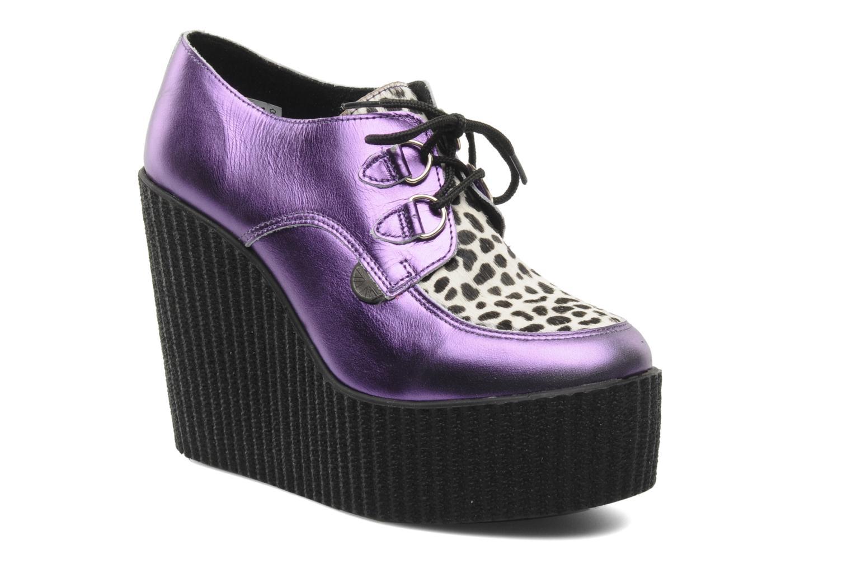Chaussures à lacets Underground Flashies Violet vue détail/paire
