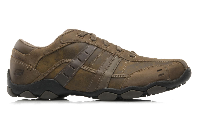 Sneaker Skechers Vassell 62607 braun ansicht von hinten
