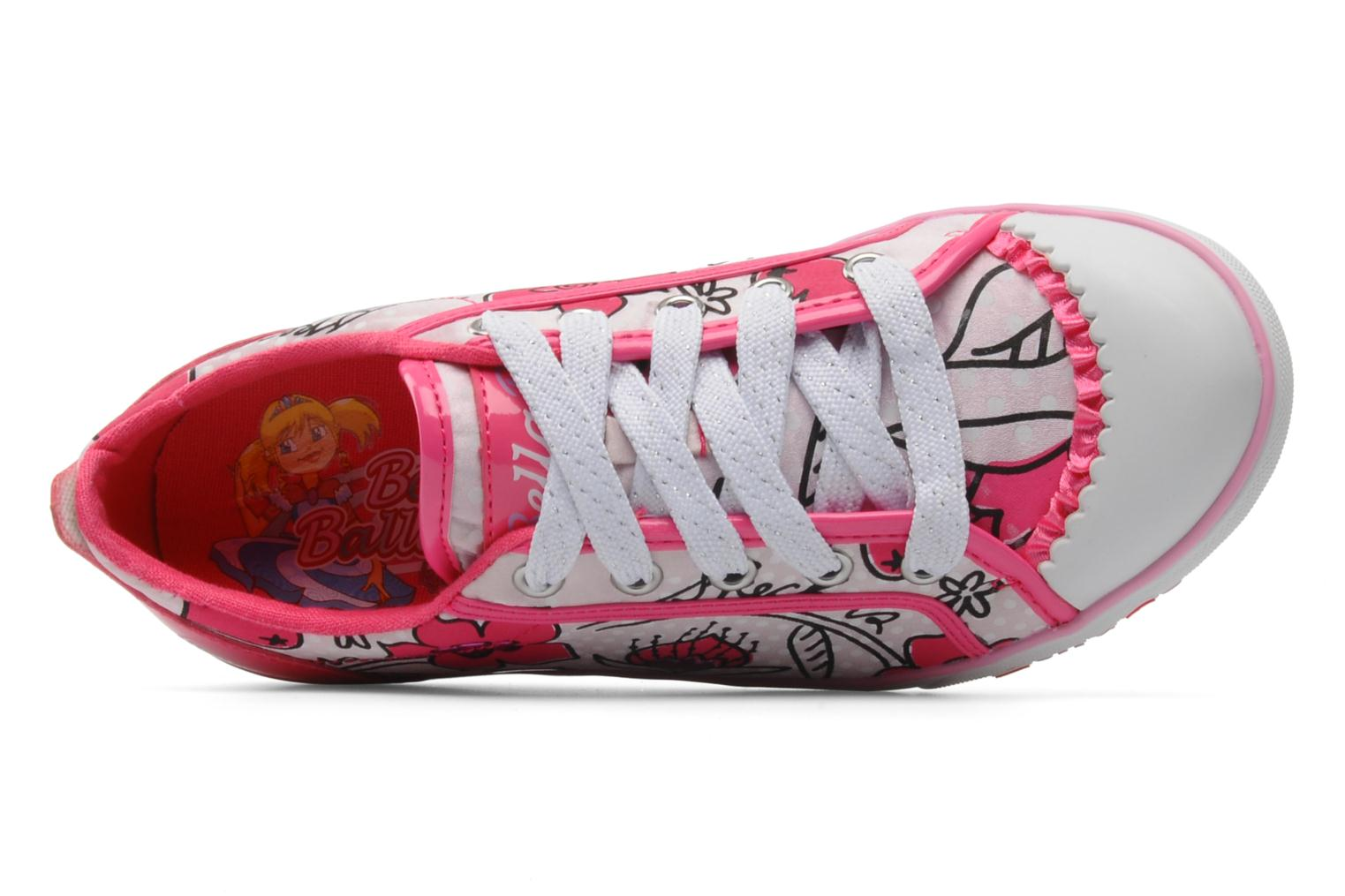 Trainers Skechers Curtsies Pink view from the left