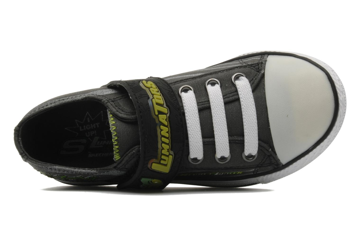 Charcoal lime Skechers Roswell (Gris)