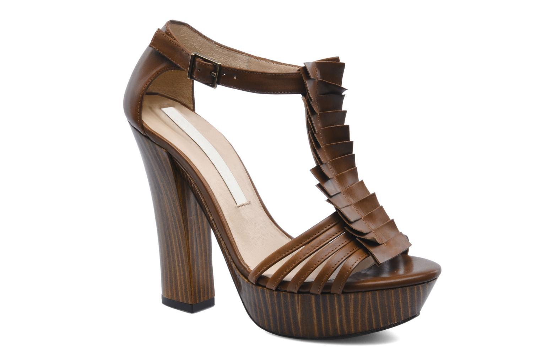 Sandales et nu-pieds Pura Lopez Krista Marron vue détail/paire