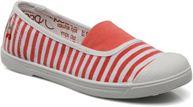 Stripe Fushia White