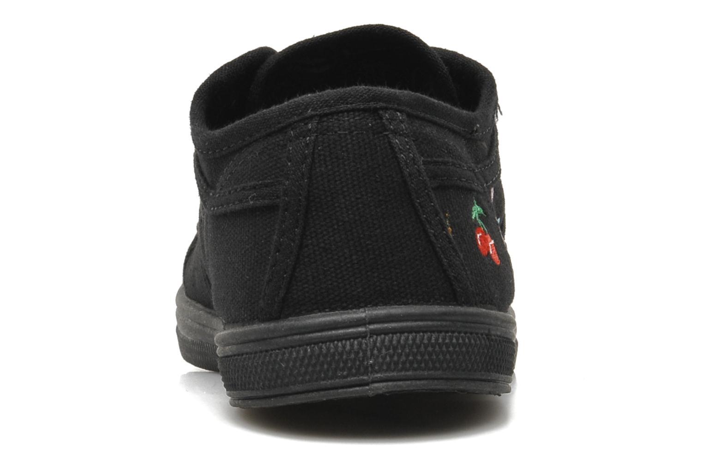 Sneaker Le temps des cerises Basic 02 E schwarz ansicht von rechts