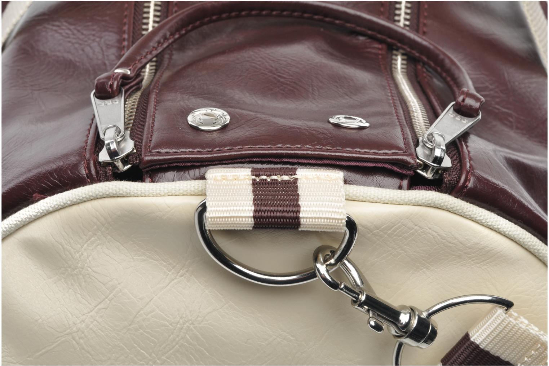 Classic barrel bag Maroon-Ecru
