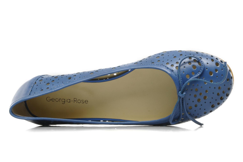 Bailarinas Georgia Rose Tourine Azul vista lateral izquierda
