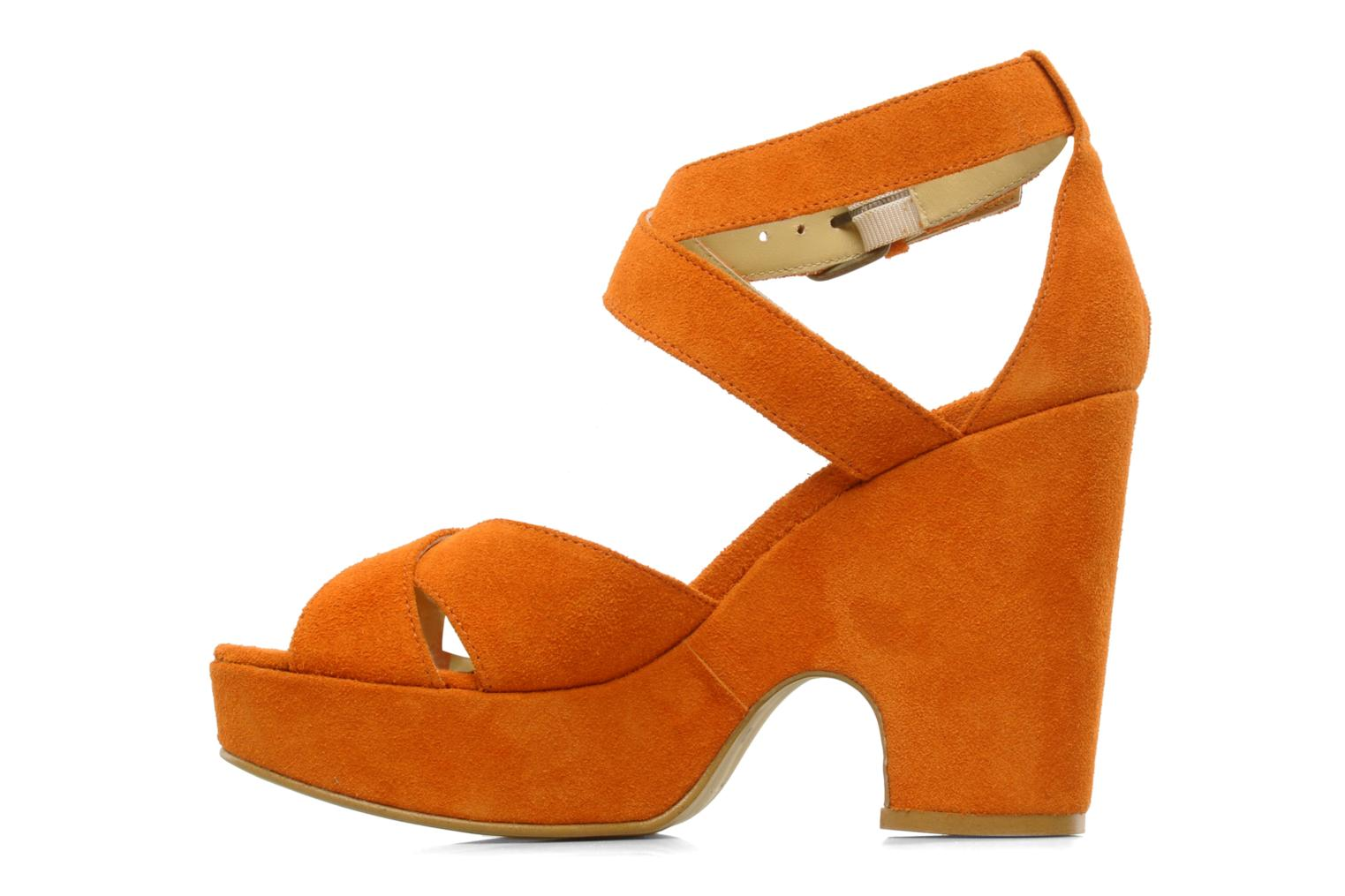 Sandals Georgia Rose Tobaco Orange front view