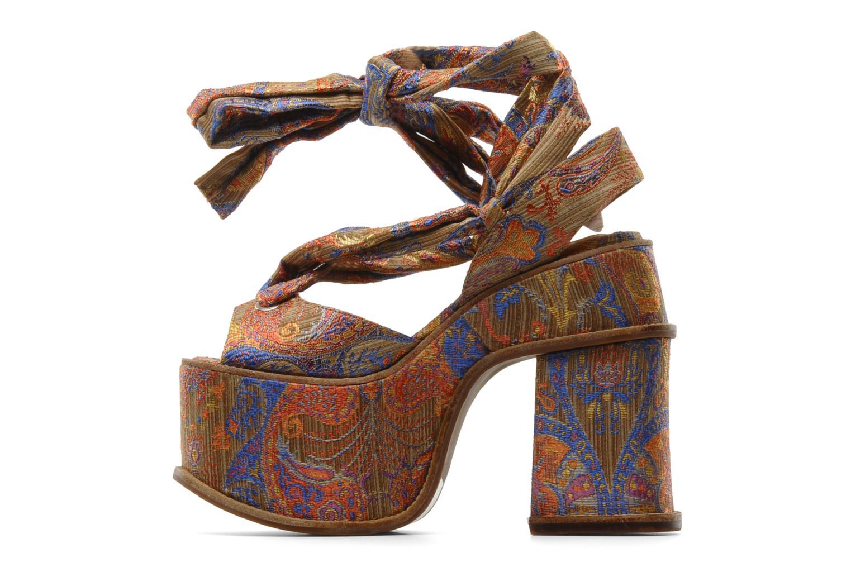 Sandales et nu-pieds Jeffrey Campbell LANDERS Or et bronze vue face