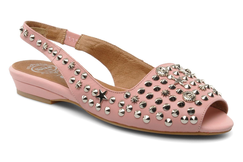 Sandales et nu-pieds Jeffrey Campbell SIDE NOTE Rose vue détail/paire