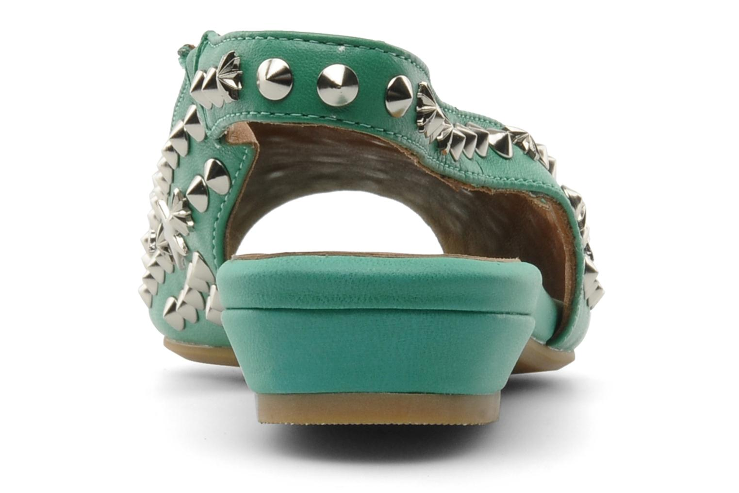 Sandalias Jeffrey Campbell SIDE NOTE Verde vista lateral derecha