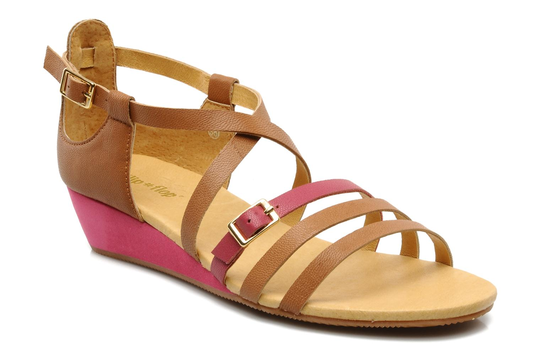 Sandales et nu-pieds Flipflop LIZ Marron vue détail/paire