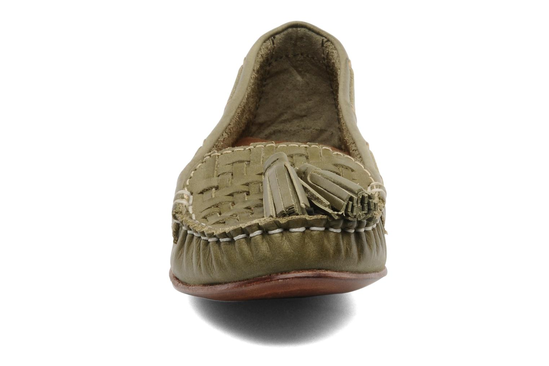 Mocassins Bertie LUCE Vert vue portées chaussures