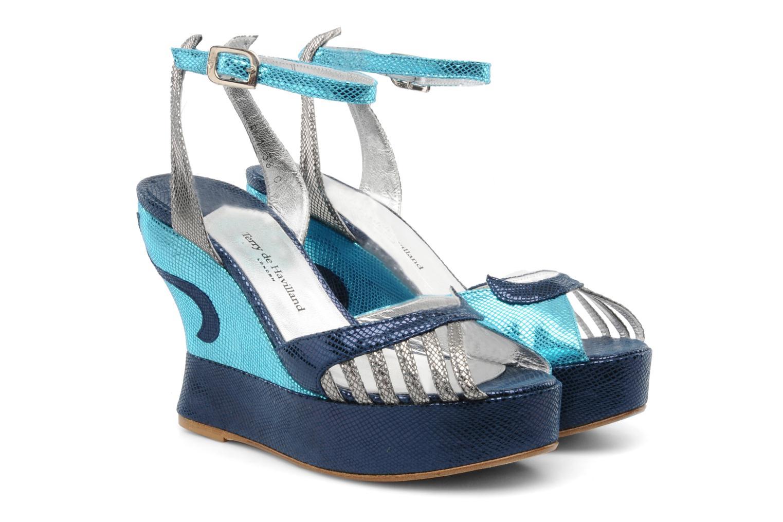 Sandales et nu-pieds Terry de Havilland MARGAUX LOW Bleu vue 3/4